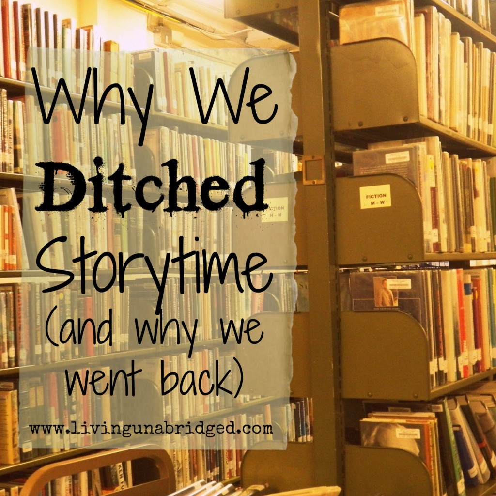 ditched storytime