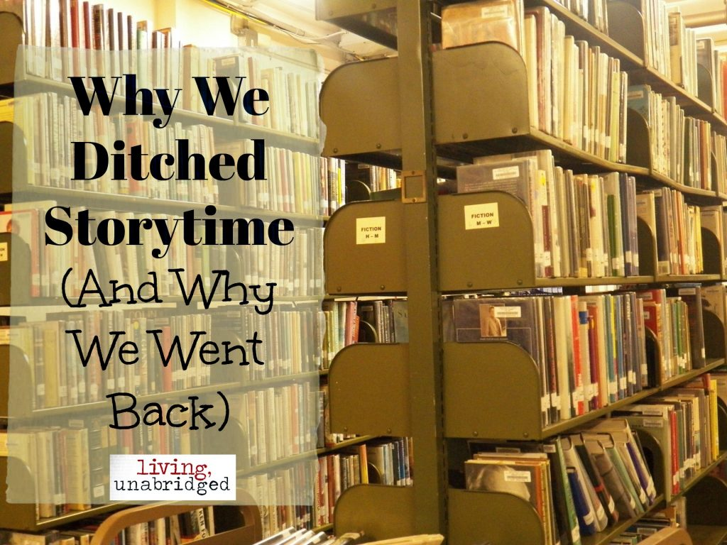 why we ditched storytime