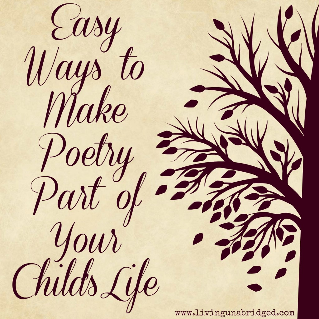 make poetry part of your child's life