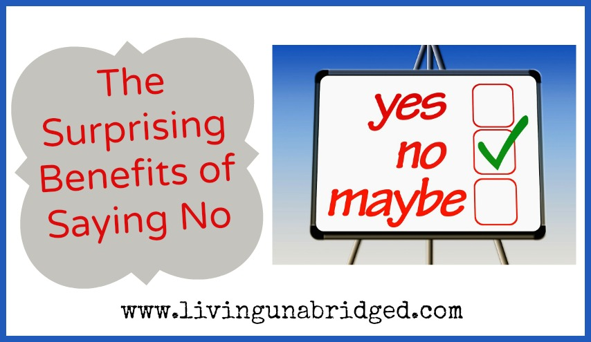 benefits of saying no