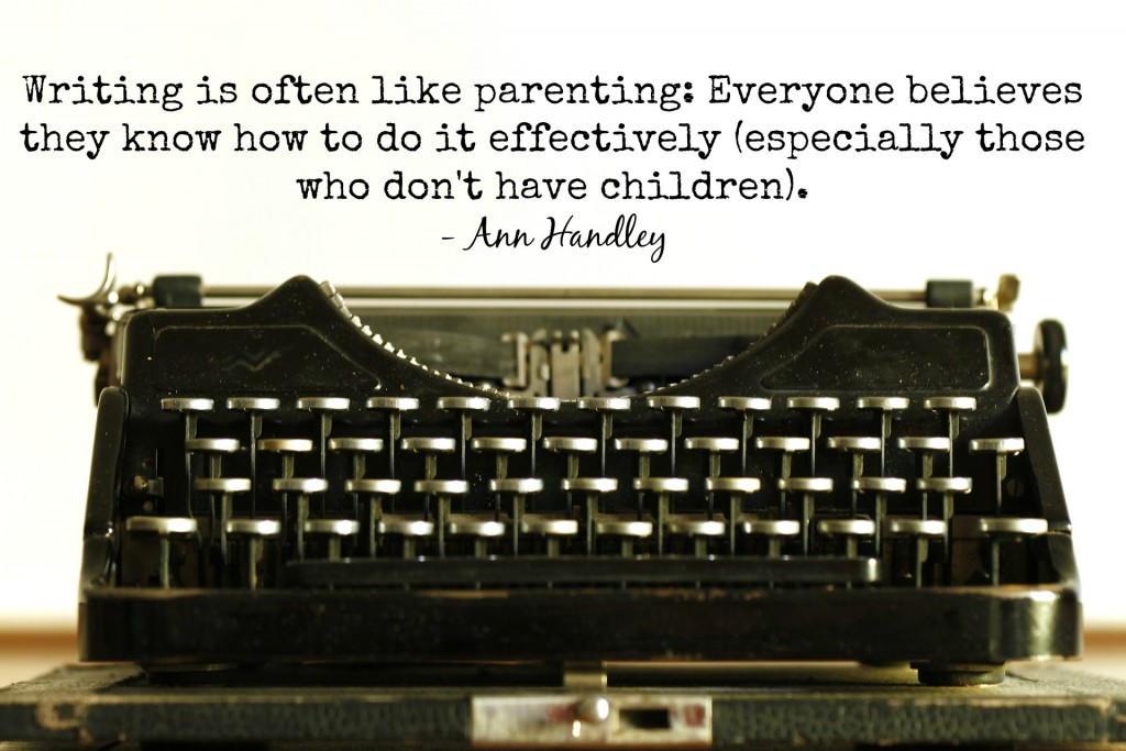 writing is like parenting