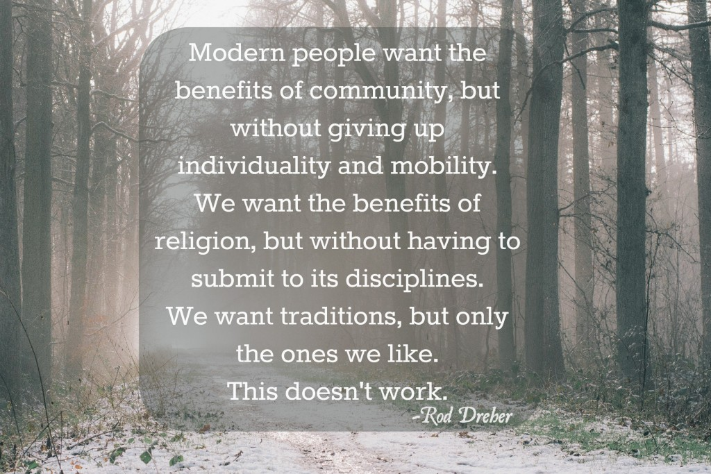 modern people want benefits without disciplines