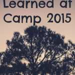 Nine Lessons Learned at Camp 2015