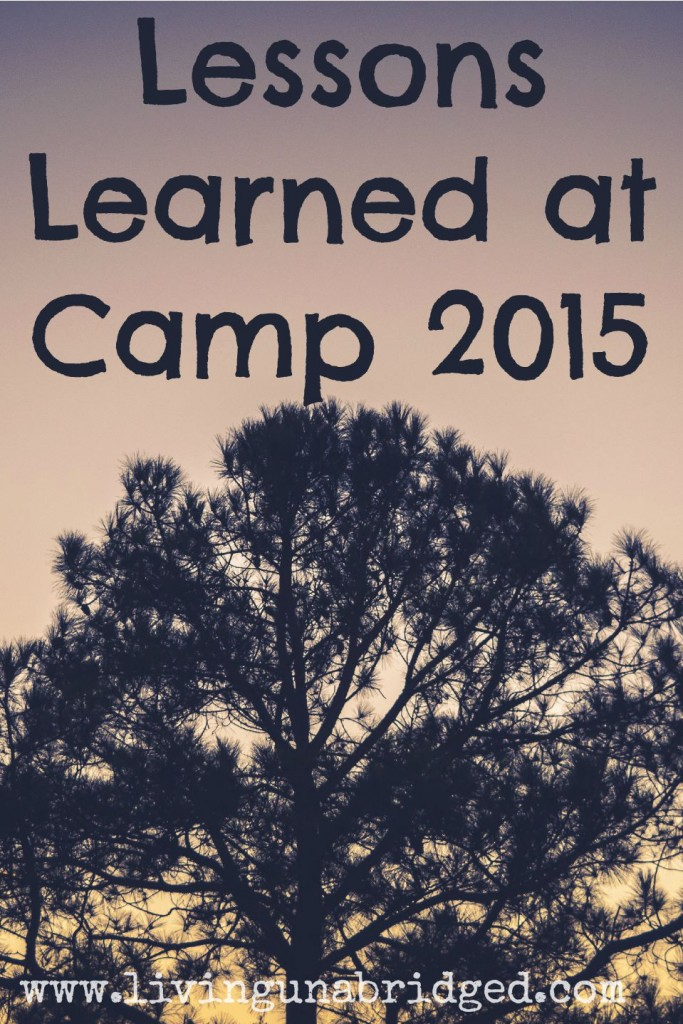 lessons learned at church camp 2015
