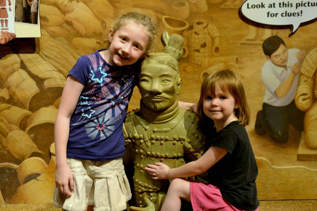 "The girls love this ""terra cotta warrior"""
