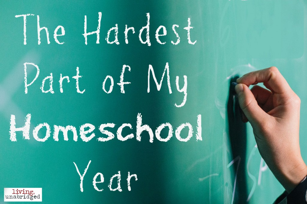 hardest homeschool year