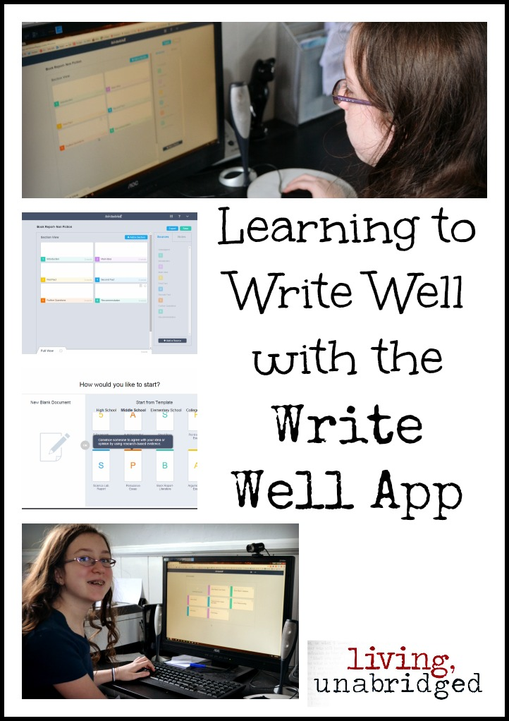 write well app for learning to write well