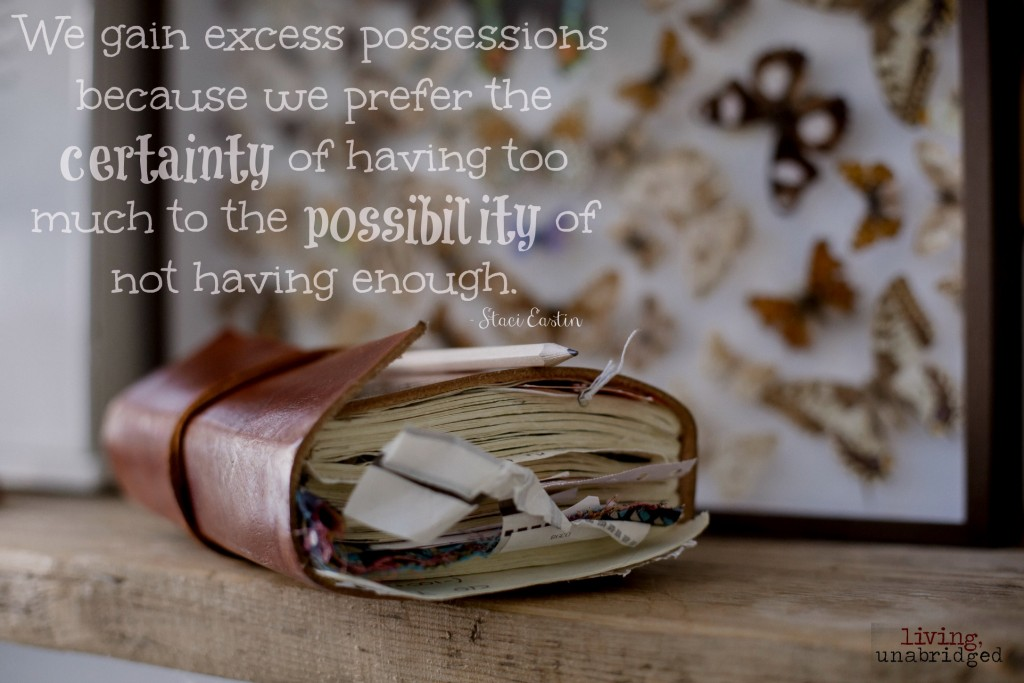 excess possessions: certainty vs. possibility