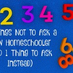 Nine Things Not to Ask a New Homeschooler