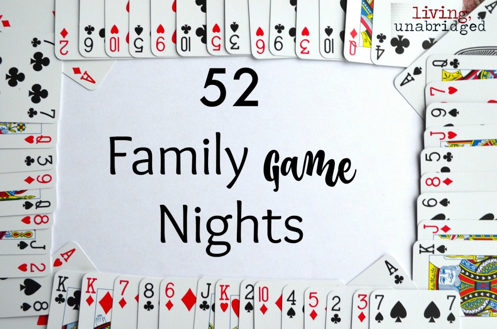 52 family game nights