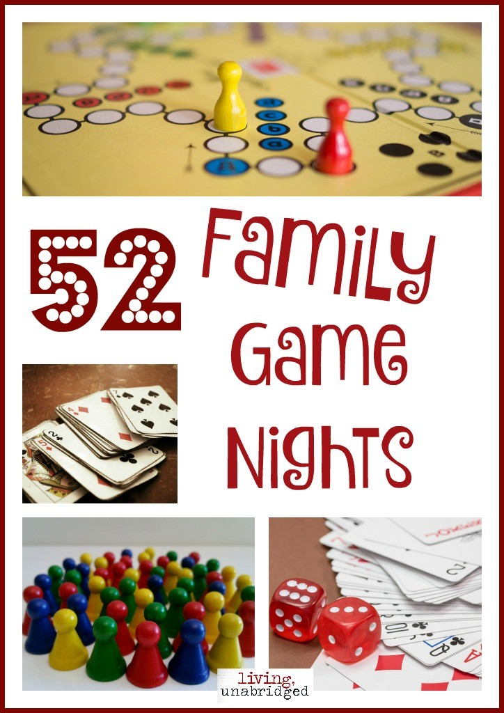 52 family game nights pin