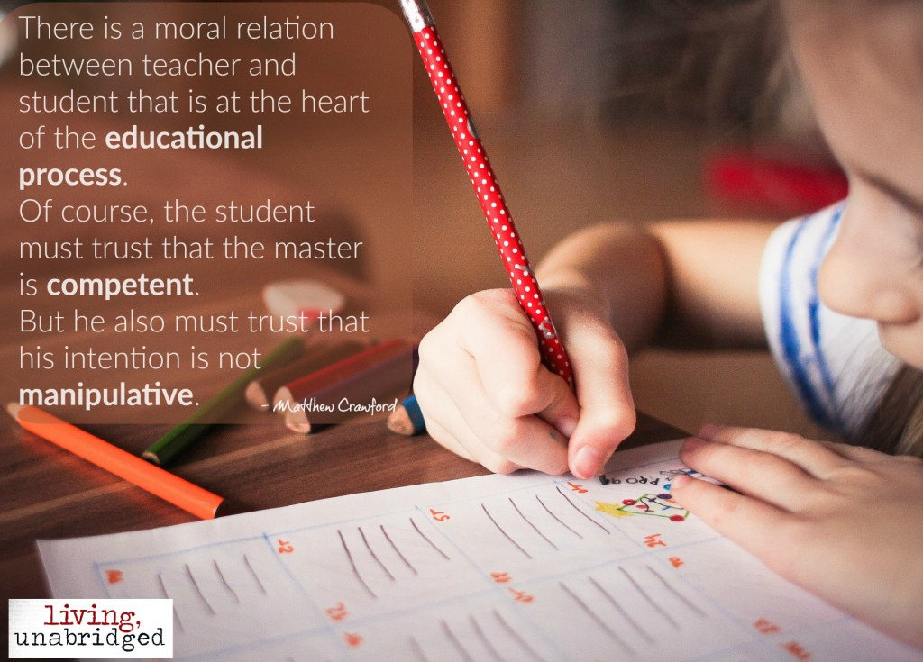 the moral relation between teacher and student