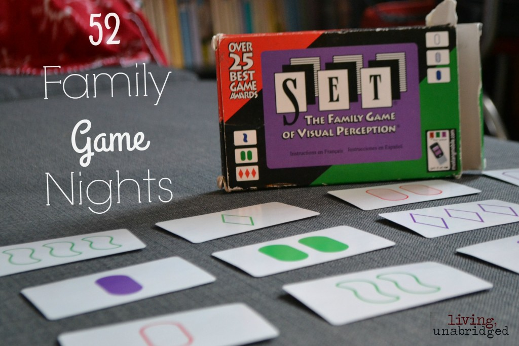 family game night set card game