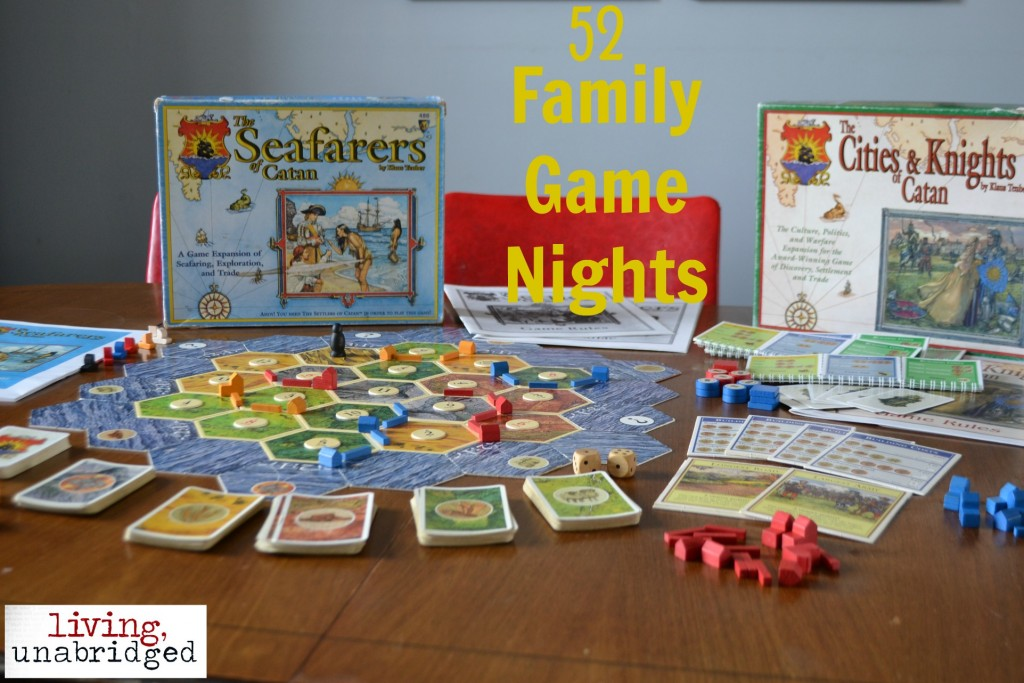 family game night settlers board game