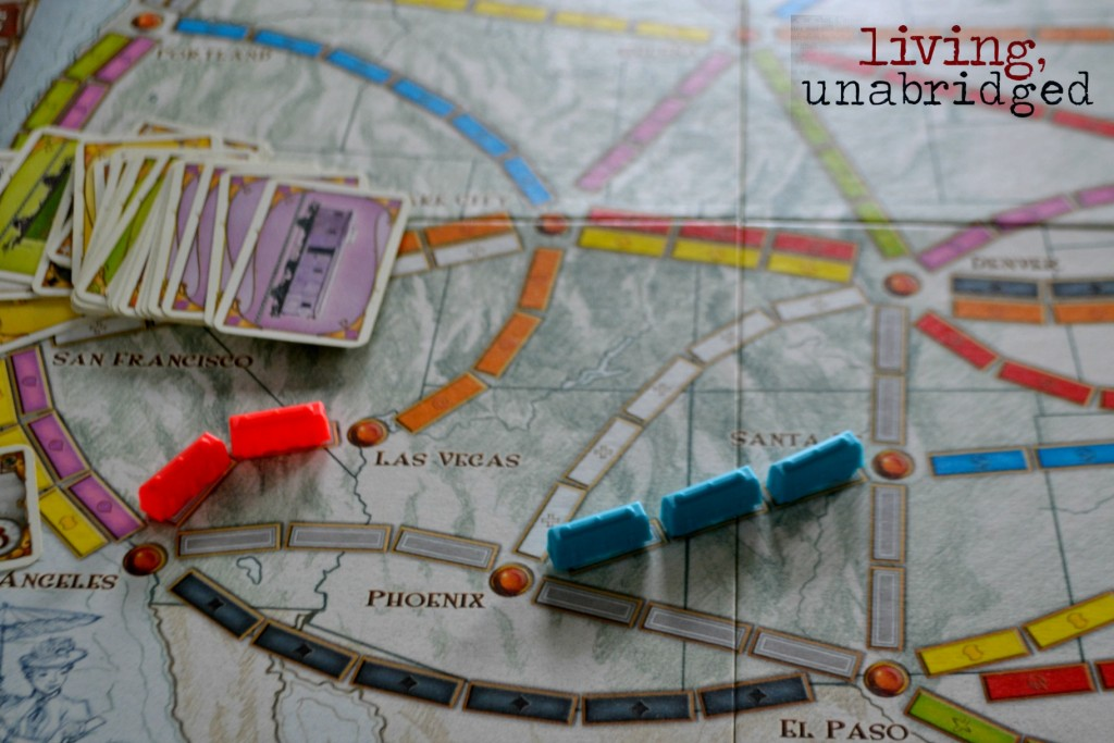 ticket to ride cards and trains