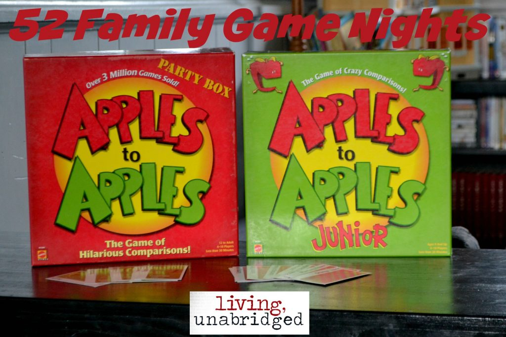 family game night apples to apples