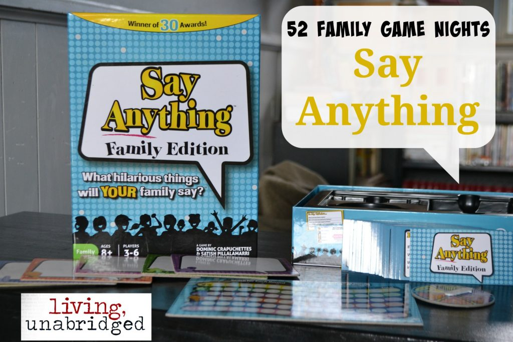 family game night say anything