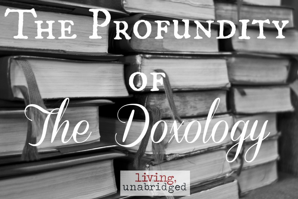 the profundity of the doxology