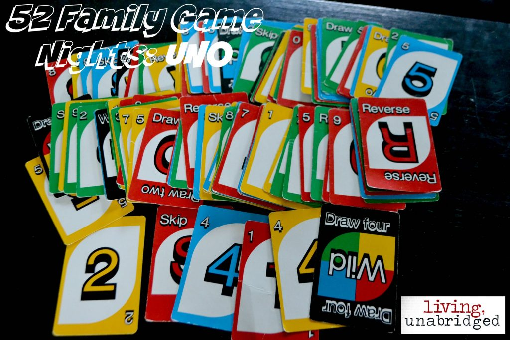 family game night: uno