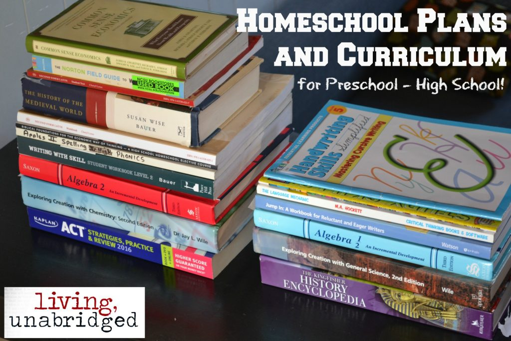 homeschool plans and curriculum