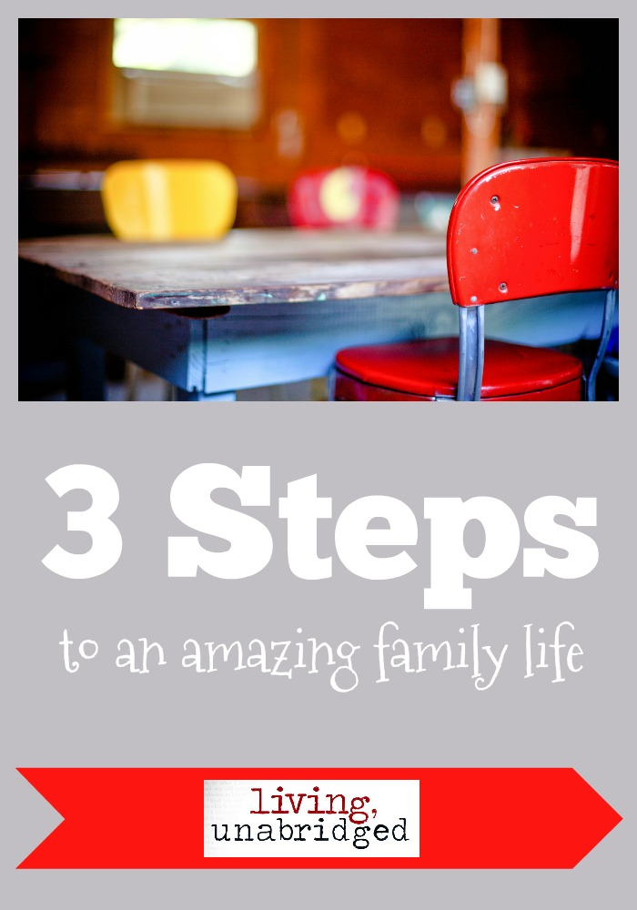 3 steps to an amazing family life pin
