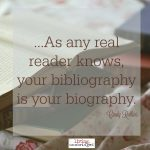 Words on Wednesday – Bibliography as Biography