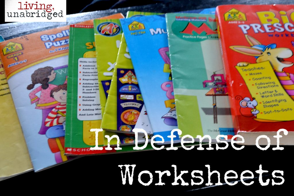 in defense of worksheets