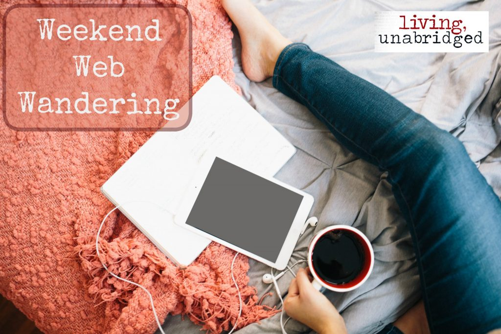 weekend web wandering