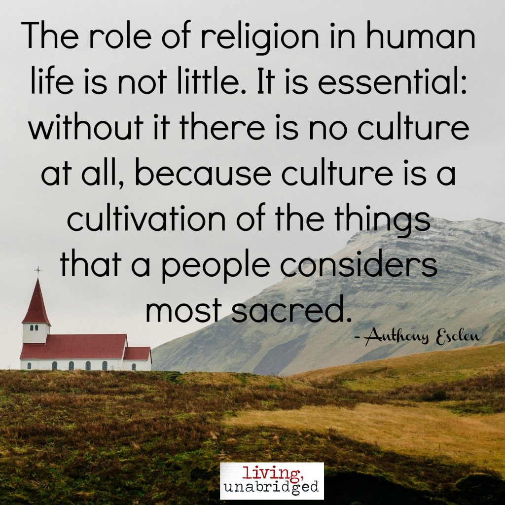 culture is cultivation of sacred things
