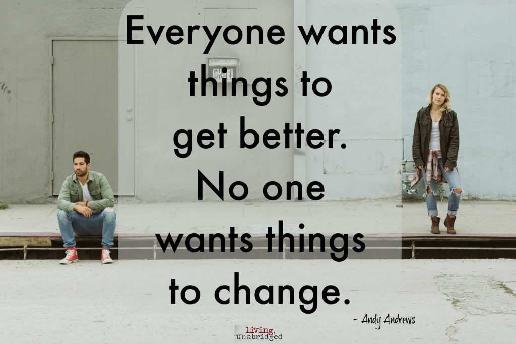 no one wants to change