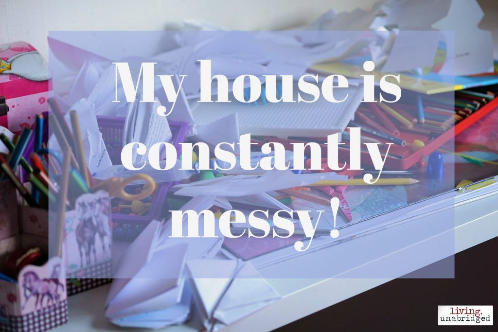 homeschool messy house