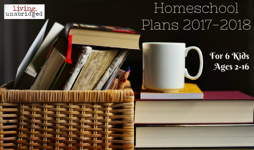 homeschool plans 2017 for six kids