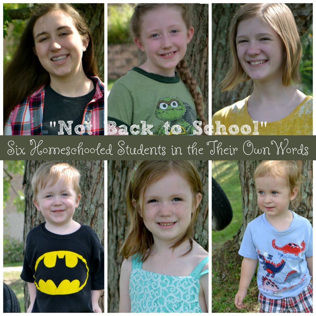 six homeschool students in their own words