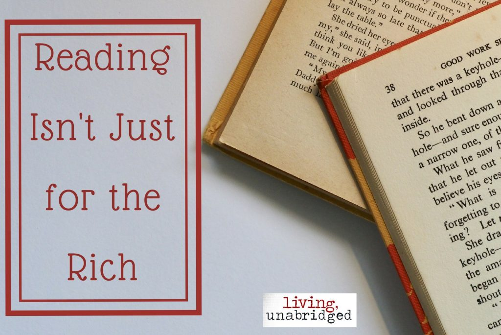 reading isn't just for the rich