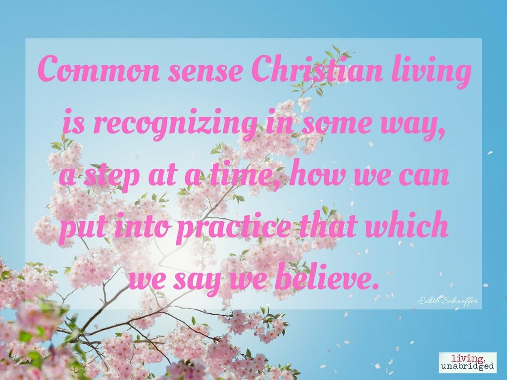 common sense christian living