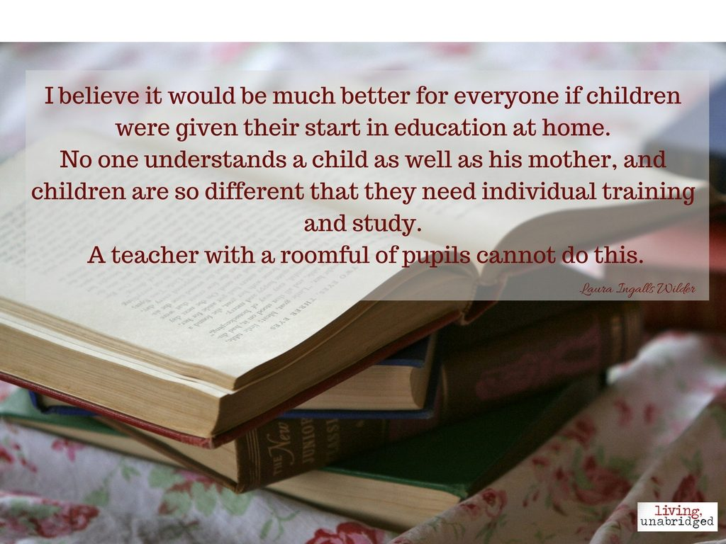 Laura Ingalls Wilder education quote