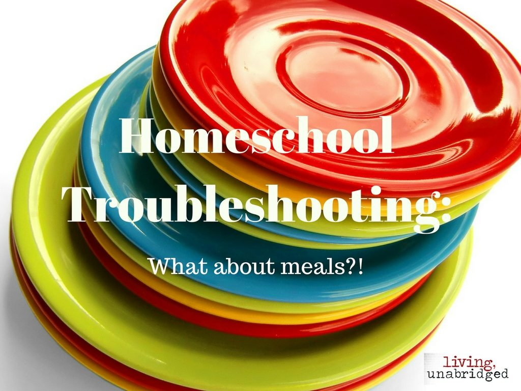 homeschool troubleshooting meals