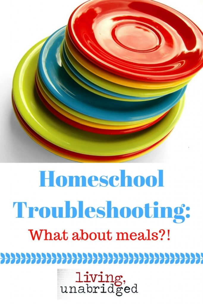 meals homeschool troubleshooting