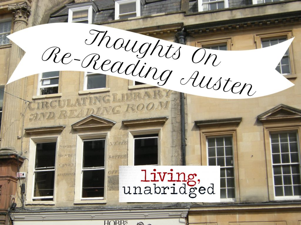 thoughts on re-reading austen
