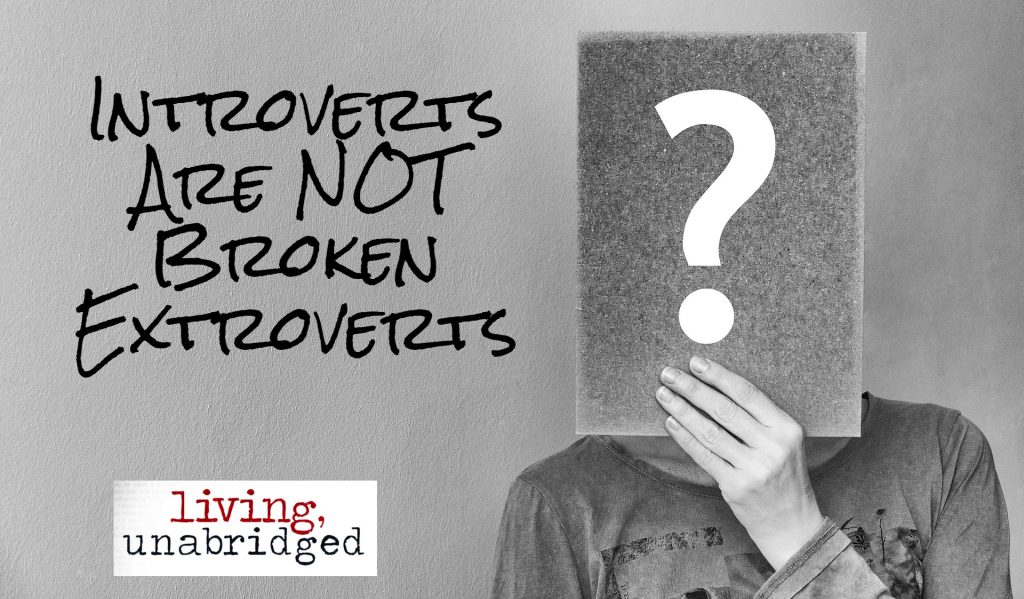 introverts are not broken extroverts
