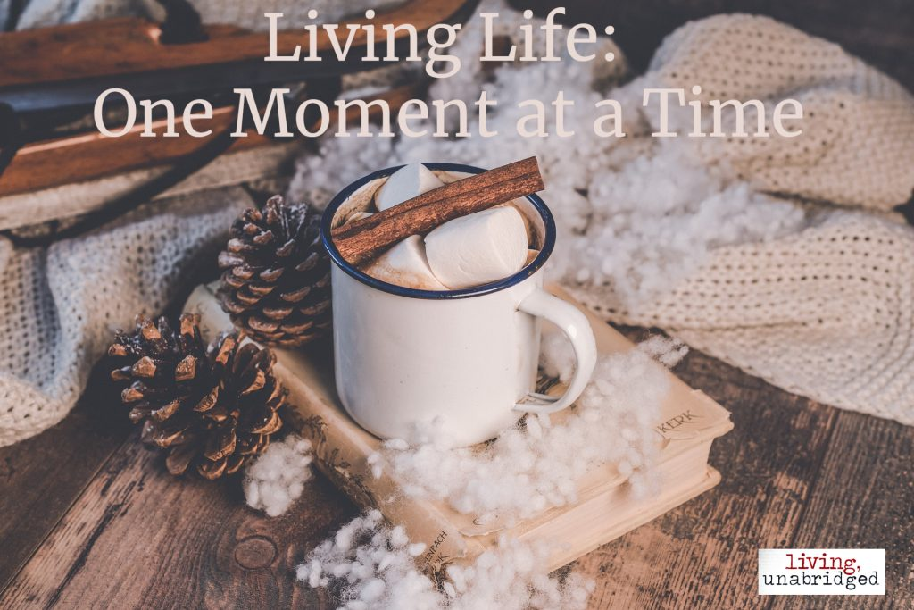 living life one moment at a time