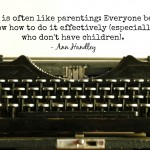 Words on Wednesday – Writing is Like Parenting