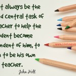 Words on Wednesday – The Central Task of a Teacher