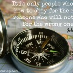 Words on Wednesday – Obey for the Right Reasons