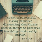 Words on Wednesday – The Art of Successful Living