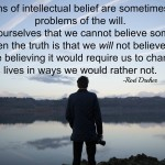 Words on Wednesday – Intellectual Belief or the Will