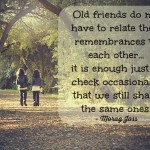 Words on Wednesday – Old Friends