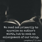 Words on Wednesday – We Read to Enlarge