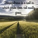 Words on Wednesday – Thankfulness vs. Pride