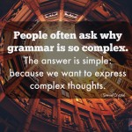 Words on Wednesday – On Grammar